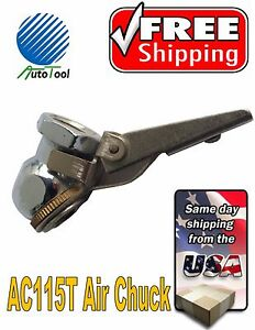 Brass Tire Air Chuck Inflator With Lever Valve Lock Female 1 4 Inch Npt