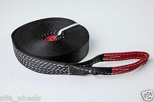 2 9 000lbs Tow Strap 60ft Winch Sling Off Road Atv Utv Snatch Car Recovery 2x60