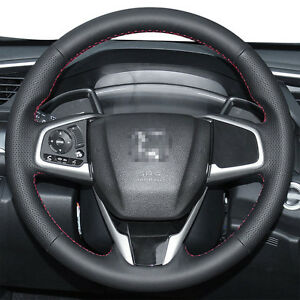 Diy Stitching Real Leather Steering Wheel Cover For Honda Civic Cr V Crv Clarity