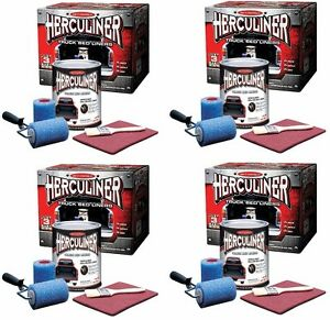 4 Ea Herculiner Hcl1b8 1 Gallon Diy Pick Up Truck Brush On Bedliner Kits