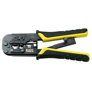 Klein Tools Ratcheting Modular Connection Cable Crimper Wire Stripper cutter