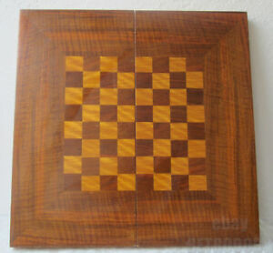 17 45 Cm Antique Vintage Wooden Checkerboard Game Board Box Chess Backgammon