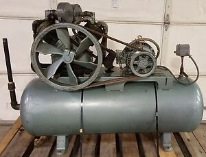 Champion Pacemaker 10hp 3ph Air Compressor 1973 80 Gal Tank Cleaned Check