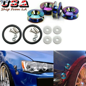 Neo Chrome Quick Release Fasteners Universal Car Bumpers Trunk Fender Hatch Lids