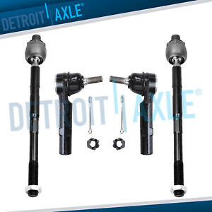 New 4pc Kit Inner And Outer Tie Rod End Links For Chevrolet Traverse