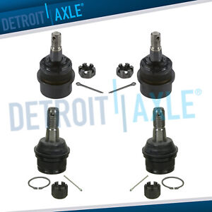 Front Upper Lower Ball Joints For 2000 2001 Dodge Ram 1500 3 9l 5 2l 5 9l 4wd