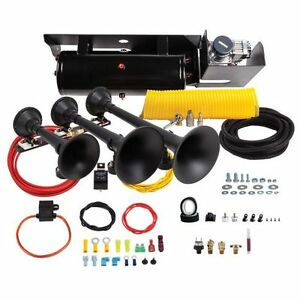 Kleinn Horns Sdkit 734 Ultimate Train Horn And Onboard Air System For F250 F350