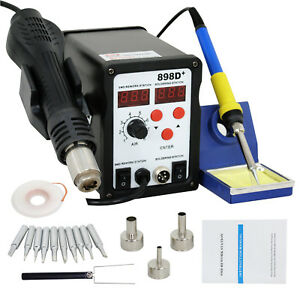 110v 898d Power Electric Soldering Station Smd Rework Welding Iron