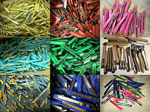 Wholesale Lot 100 Retractable Utility Knives Box Cutters Snap Blade Knife Tools