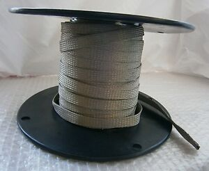 139 Feet Alpha Wire 2176 Braided Sleeve Tubing Tinned Copper 25 32
