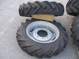2 New Tire s And Wheel s Off Front 2615 Massey Ferguson 4 X 4