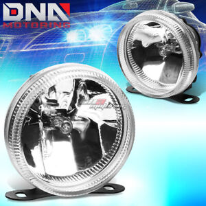 Universal Clear 3 5 Round Fog Light lamp mount bulbs For Suv pu Truck Offroad