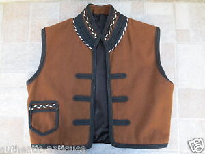 Antique 19th C Man S Male Folk Vest Folklore Costume Macedonian Greece Ottoman