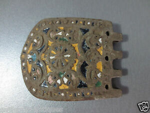 Gorgeous Antique Enamel Buckle Late Middle Ages Exremely Rare Half