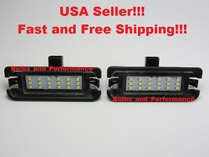 White 6000k Led License Plate Lights Lamps For 2015 2020 Ford Mustang Bright