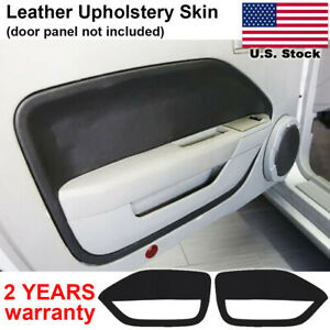 2pcs Leather Door Panel Insert Card Cover Kit For Ford Mustang 2005 2009 Black