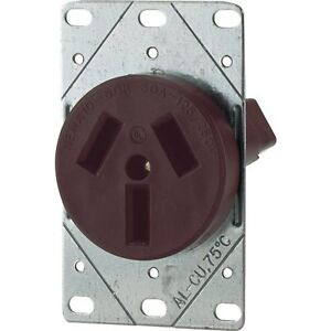 Eaton 32b 50 amp Commercial And Industrial Power Receptacle Brown