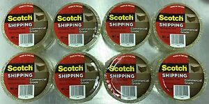 8 Rolls Scotch Commercial Grade Heavy duty Packaging Tape 54 6 Yards 3 1 Mil