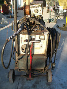 Miller Cp 300 Welder With Millermatic 30a Wire Feeder 230 460v 3 phase