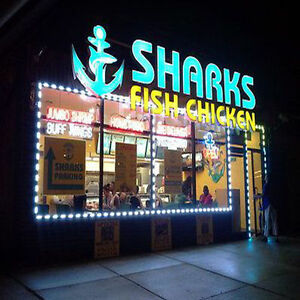 Store Front Window In outdoor Led White Module Installed Lights Sign Bar Neon