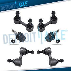 For Subaru Forester Impreza 6pc Front Lower Ball Joints Sway Bars Excludes Wrx
