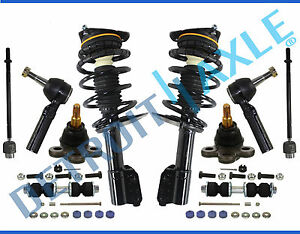 Chevy Impala Monte Carlo Inner Outer Tierod Strut Spring Ball Joint Kit 10pc