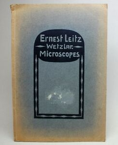 Rare Antique 1912 Leitz Microscopes Catalog No 44 A Book