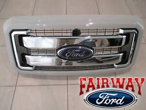 11 Thru 16 Super Duty Oem Ford Chrome Grille Grill W Paintable Surround Emblem