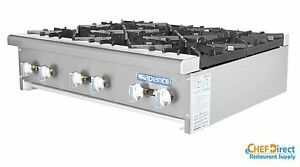 Radiance Tahp 36 6 36 Counter Top 6 Burner Gas Commercial Hotplate