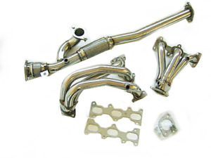 Obx Long Tube Header For 02 08 Hyundai Tiburon Gt 2 7l V6 Stainless 5 O2 Bungs