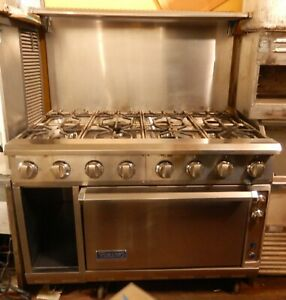 Gas Range By Viking 48 8 Burner Model V24b4 ng In Excellent Condition
