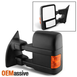 08 15 Ford F250 Superduty Power Heated Extendable Towing Mirror Driver left Side