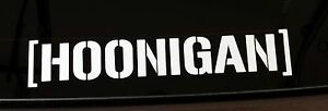 6 Hoonigan Vinyl Decal Sticker Window Car Drift Jdm Dub Vw Ken Block Drift Ipad