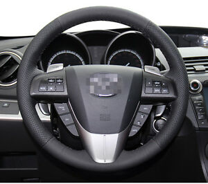 Leather Steering Wheel Cover For 2010 2013 Mazda 3 M3 2012 2014 2015 Mazda 5 M5