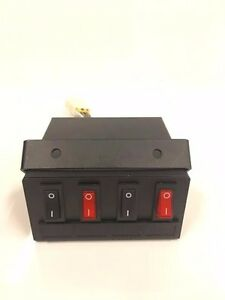 Led Light Switch Box Control Unit Fuse Protection 4 Four Switches Wiring Harness
