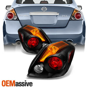 Fits 2007 2012 Altima Sedan Black Tail Lights Replacement Pair Left right 07 12