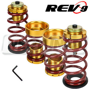 Rev9 For Honda Civic 06 11 Fa Fg Lowering Spring Sleeve Kit Red Suspension Set