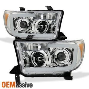 Fits 2007 13 Toyota Tundra 2008 17 Sequoia Smd Led Tube Projector Headlights