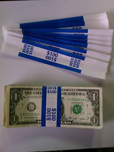10 000 New Self sealing Currency Bands 100 Denomination Straps Money Ones