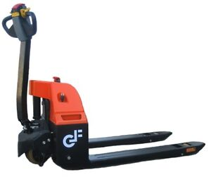 Gf30 Electric Pallet Jack 3000 Lbs Capacity Standard Fork Size With Safety Rev