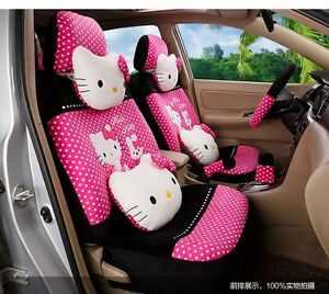 New Hello Kitty Car Seat Covers Cushion Accessories Set 18pcs Tl 5118