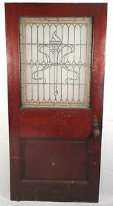 Large Vintage Victorian Stained Glass Door 2741 Nj