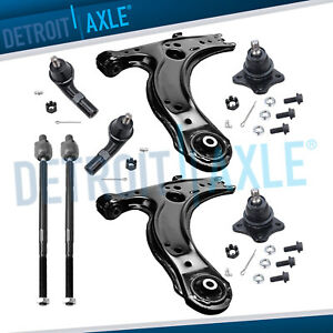 Volkswagen Jetta Golf Beetle 8pc Front Lower Control Arm Ball Joint Tierod Kit