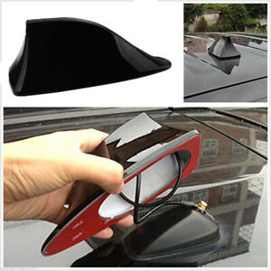 1x Universal Car Shark Fin Roof Antenna Radio Fm Am Decorate Aerial Black