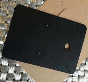 300 Blank Leverback Necklace And Earrings Card In Black Paper For Accessories