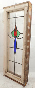 Vintage Stained Glass Window Panel 2816 Nj