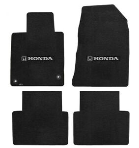 New 2013 2017 Black Floor Mats Honda Accord 2 Door Silver H Logo Set Of 4