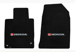 New 2013 2017 Black Front Floor Mats Honda 4 Door Silver H Accord Logo Pair
