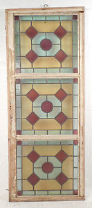 Tall Vintage Stained Glass Window Panel 2972 Nj