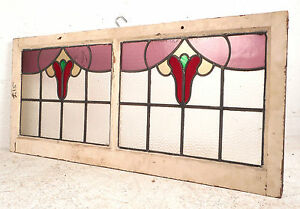 Vintage Stained Glass Window Panel 3119 Nj